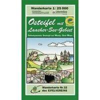 Eifelverein Wandelkaart 32 Osteifel Mit Laacher-See-Gebiet