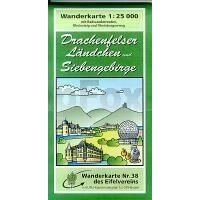 Eifelverein Wandelkaart 38 Drachenfelser Ländchen Und Siebengebirge