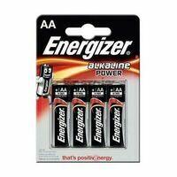 Energizer Power LR6 AA Alkaline Batterij Vier Stuks