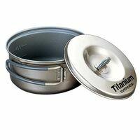 Evernew Titanium Pot 0.6L Titanium Pan