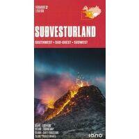 Ferdakort Maps Ijsland Wegenkaart 2 IJsland Zuidwest