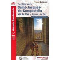 FF Randonnee Wandelgids 650 Sentier St-Jacques Genève-Le Puy