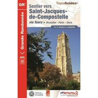 FF Randonneee Wandelgids GR6551 Bruxelles- Paris - Tours