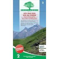 Fraternali Editore Wandelkaart 02 Alta Valle Susa – Alta Val Chisone