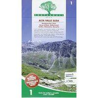 Fraternali Editore Wandelkaart 03 Val Susa – Val Cenischia – Rocciamelone