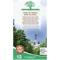 Fraternali Editore Wandelkaart 12 Bassa Valle Varaita - Bassa Valle Maira