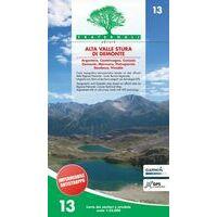 Fraternali Editore Wandelkaart 13 Alta Valle Stura Di Demonte