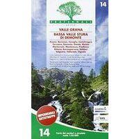 Fraternali Editore Wandelkaart 14 Valle Grana - Bassa Valle Stura