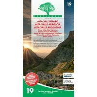 Fraternali Editore Wandelkaart 19 Alta Val Tanaro - Alta Valle Arroscia