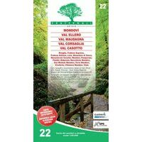 Fraternali Editore Wandelkaart 22 Mondovì - Valle Ellero - Val Maudagna
