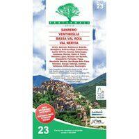 Fraternali Editore Wandelkaart 23 Sanremo - Mentone - Bassa Val Roia