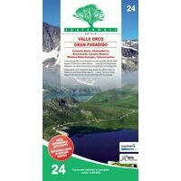 Fraternali Editore Wandelkaart 24 Alta Valle Orco - Gran Paradiso