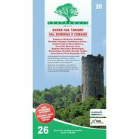 Fraternali Editore Wandelkaart 26 Alta Val Tanaro - Alta Valle Bormida