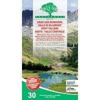 Fraternali Editore Wandelkaart 30 Gran San Bernardo - Valle Di Ollomont