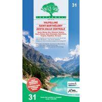 Fraternali Editore Wandelkaart 31 Valpelline - Saint Barthelemy