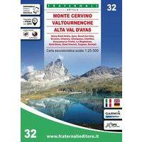 Fraternali Editore Wandelkaart 32 Monte Cervino - Valtournenche - Alta Val D'Ay