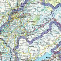 Freytag En Berndt Landkaart Centraal-Azië