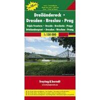 Freytag En Berndt Wegenkaart Drielandenpunt Dresden-Breslau-Praag