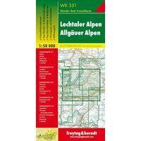 Freytag En Berndt Wandelkaart WK351 Allgauer Alpen