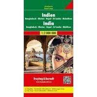 Freytag En Berndt Landkaart India, Nepal & Bangladesh
