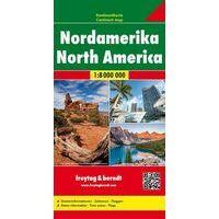 Freytag En Berndt Overzichtskaart Noord-Amerika 1:8.000.000