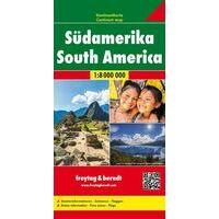 Freytag En Berndt Overzichtskaart Zuid-Amerika 1:800.000