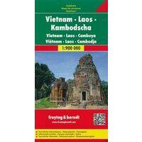 Freytag En Berndt Vietnam Laos En Cambodja Wegenkaart 1:900.000