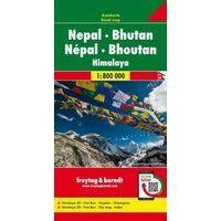 Freytag & Berndt Wegenkaart Nepal - Bhutan