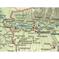 Gecko Maps Wegenkaart Northern Tajikistan