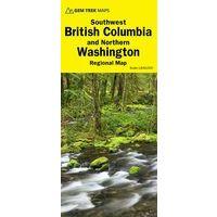Gem Trek Wegenkaart British Columbia Southwest