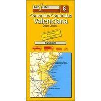 Geo Estel Maps Wegenkaart 08 Valencia En Omgeving 1:250.000