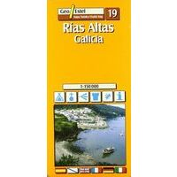 Geo Estel Maps Wegenkaart T19 Rias Altas Galicia 1:150.000