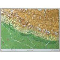 Georelief Maps Reliëfkaart Nepal Groot Met Aluminium Frame