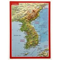 Georelief Maps Reliefpostkaart Korea
