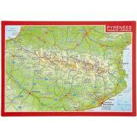 Georelief Maps Reliëfpostkaart Pyreneeën