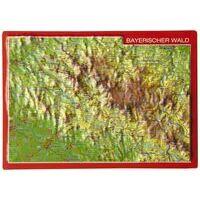 Georelief Maps Reliëf Ansichtkaart Bayerische Wald