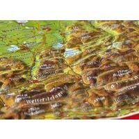 Georelief Maps Reliëf Ansichtkaart Bayerisches Oberland