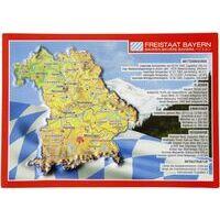 Georelief Maps Reliëf Ansichtkaart Bayern