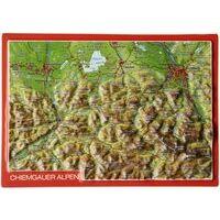 Georelief Maps Reliëf Ansichtkaart Chiemgauer Alpen