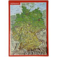 Georelief Maps Reliëf Ansichtkaart Duitsland