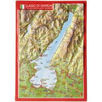 Georelief Maps Reliëf Ansichtkaart Gardameer