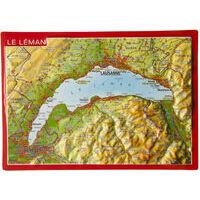 Georelief Maps Reliëf Ansichtkaart Meer Van Geneve