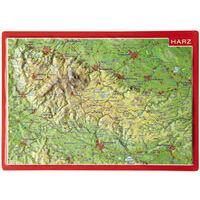 Georelief Maps Reliëf Ansichtkaart Harz