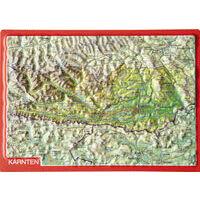 Georelief Maps Reliëf Ansichtkaart Kärnten