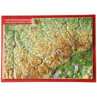 Georelief Maps Reliëf Ansichtkaart Osterzgebirge