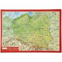 Georelief Maps Reliëf Ansichtkaart Polen