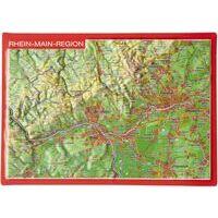 Georelief Maps Reliëf Ansichtkaart Rhein-Main-Region