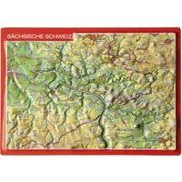 Georelief Maps Reliëf Ansichtkaart Sächsische Schweiz