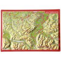 Georelief Maps Reliëf Ansichtkaart Säntisregion