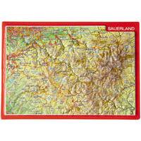 Georelief Maps Reliëf Ansichtkaart Sauerland